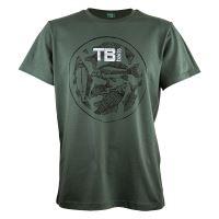 TB Baits Tričko Vintage Green Lady - M