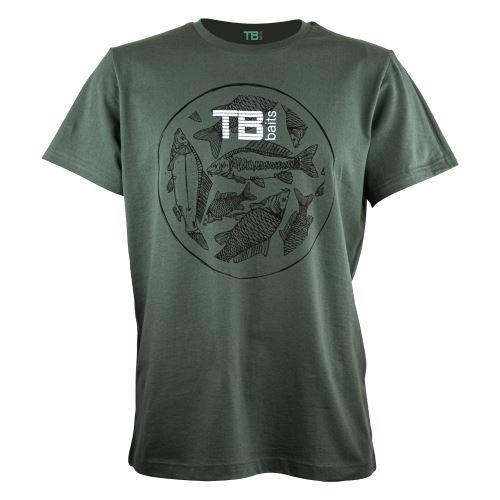 TB Baits Tričko Vintage Green Lady