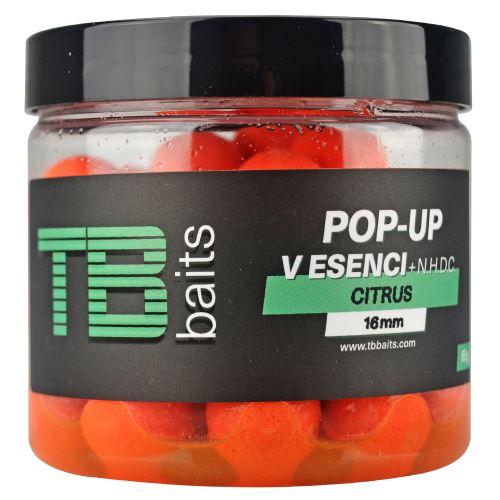 TB Baits Plovoucí Boilie Pop-Up Orange Citrus + NHDC 65 g