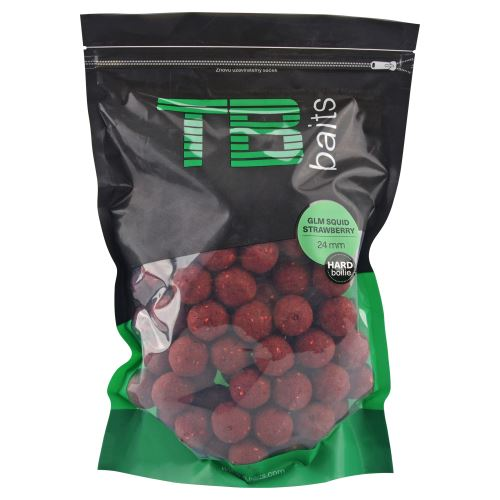 TB Baits Hard Boilie GLM Squid Strawberry