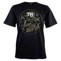 TB Baits Tričko Vintage Black - M