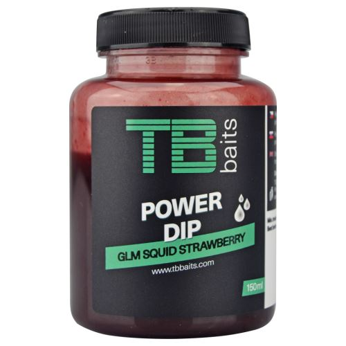 TB Baits Power Dip GLM Squid Strawberry 150 ml